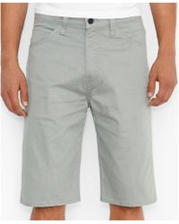 Levi's 569 Line 8 Neutral Grey Loosefit Shorts - Lyst