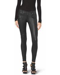 Michael Kors Skinny Leather Pants - Lyst