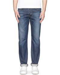Rag & Bone Medium Wash Straightleg Jeans - Lyst