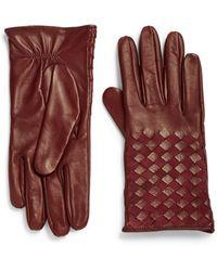 Portolano | Basket-weave Leather Gloves | Lyst