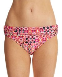 La Blanca Perfect Patch Hipster Swim Bottoms - Lyst