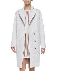 O'2nd - Fuse Shiny Tweed Coat - Lyst