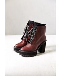 Shellys London - Celee Lace-Up Heeled Boot - Lyst