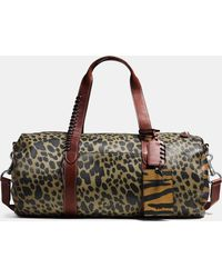 COACH   Large Gym Bag In Printed Pebble Leather   Lyst