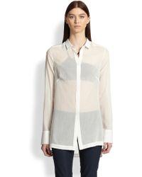 Helmut Lang Veil Sheer Cotton Shirt - Lyst
