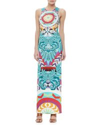 Mara Hoffman Printed Column Maxi Dress - Lyst