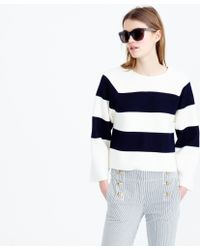 J.Crew | Collection Structured Striped Sweater | Lyst
