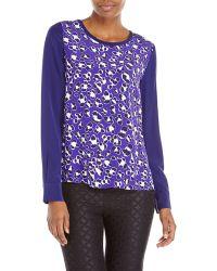 Diane von Furstenberg Purple Louisa Silk Blouse - Lyst