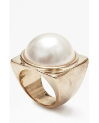 French Connection - Faux Pearl Ring - Lyst