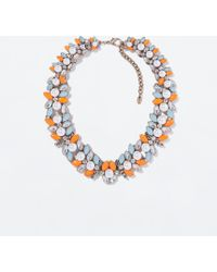 Zara Stones and Pearls Necklace - Lyst