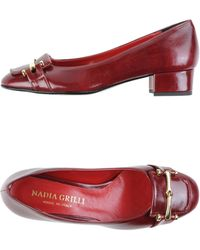 Nadia Grilli Moccasins red - Lyst
