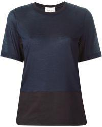 3.1 Phillip Lim Colour Block T-Shirt - Lyst