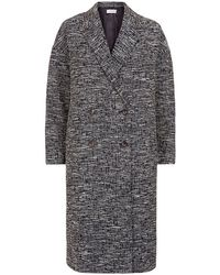 Paul by Paul Smith - Tweed Cocoon Coat - Lyst