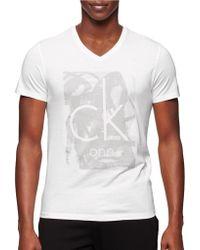 Calvin Klein One Paint Tonal Graphic T-Shirt white - Lyst