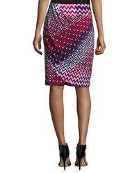 Natori - Deco Faux-wrap Pencil Skirt - Lyst