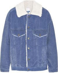 Steve J & Yoni P - Faux Shearling-lined Cotton-corduroy Jacket - Lyst