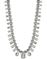 Cara Interlocking Rolo Bib Necklace - Lyst