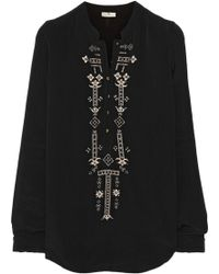 Day Birger Et Mikkelsen Zest Embroidered Georgette Top - Lyst