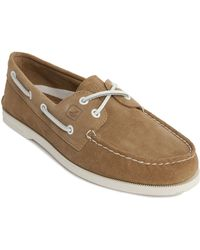 Sperry Top-Sider A/O2 Eye Beige Suede Boat Shoes beige - Lyst