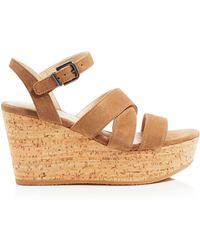 Via Spiga - Kendall Strappy Cork Platform Wedge Sandals - Lyst