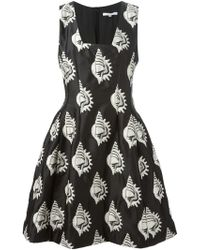 Carven Sea Shells Jacquard Flared Dress - Lyst