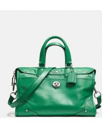 Coach Rhyder Satchel in Leather - Lyst