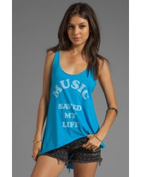 Local Celebrity | Music Saved My Life Ziggy Tank in Blue | Lyst