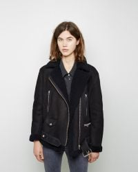 Acne | More Shearling-lined Suede Jacket | Lyst
