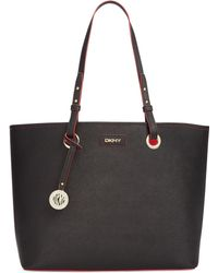 DKNY Saffiano Leather Shopper - Lyst