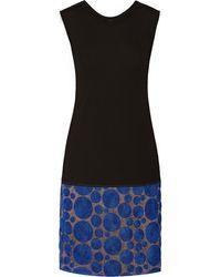 Vera Wang Rosetteembellished Jersey Dress - Lyst