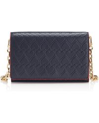 Tory Burch Heart-Embossed Chain Wallet - Lyst