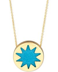 House Of Harlow 1960 Mini Sunburst Pendant Necklace - Lyst