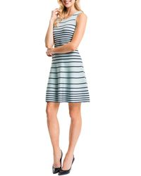 Cynthia Steffe Kyra Striped Fit & Flare Dress blue - Lyst