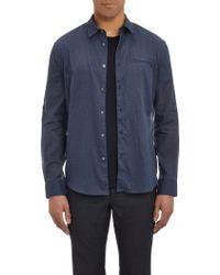 John Varvatos Slim-Fit Plaid Shirt - Lyst
