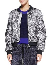 Rebecca Taylor White Noise Patterned Flight Jacket - Lyst