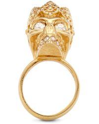 Alexander McQueen King Skull Ring gold - Lyst