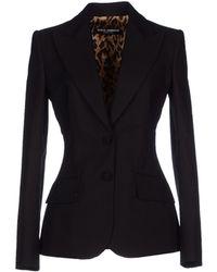 Dolce & Gabbana Blazer black - Lyst