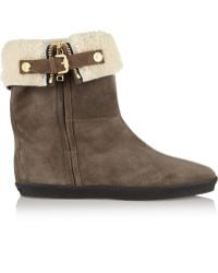 Burberry Shearlinglined Suede Ankle Boots - Lyst