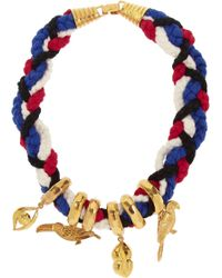 Virzi+de Luca Native Of Rio Goldplated and Cotton Charm Necklace - Lyst