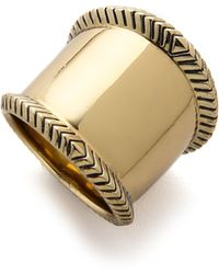 House of Harlow 1960 - Tambo River Knifed Ring - Gold - Lyst
