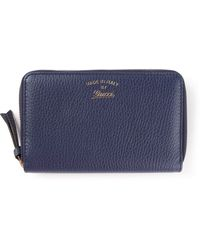 Gucci Blue Classic Wallet - Lyst