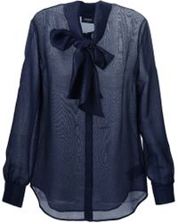 DSquared² Bow Sheer Shirt - Lyst