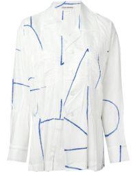 Issey Miyake Pleated Shirt blue - Lyst