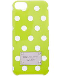MICHAEL Michael Kors Snap-On Iphone 5 And 5S Case green - Lyst