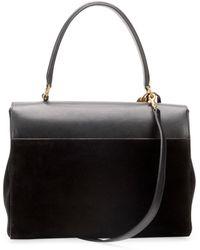 Hot Saint Laurent - Moujik Large Suede Leather Satchel Bag Black - Lyst 7c78a65ede