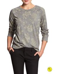 Banana Republic Factory Print Sweatshirt - Lyst