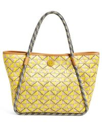 Tory Burch 'Small Mosaic' Straw Tote - Lyst