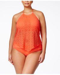 Bleu Rod Beattie - Plus Size Gilt Trip Bikini Bottoms - Lyst