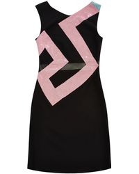 Versace Crystal-Embellished Cady Dress multicolor - Lyst