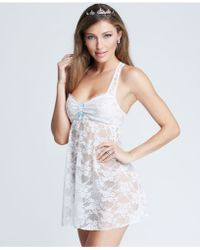 Betsey Johnson Lace Babydoll And G-String - Lyst